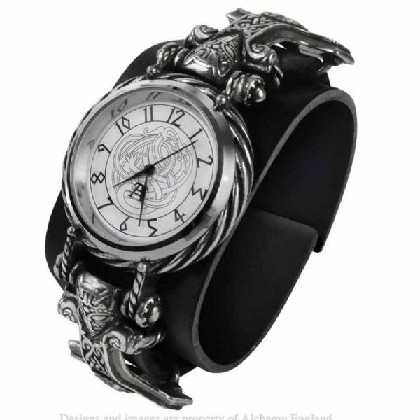 ALCHEMY GOTHIC Thorgud Ulvhammer Mens Wrist Watch